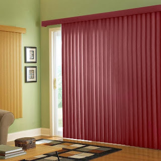 Single Colored Striped Curtain Design