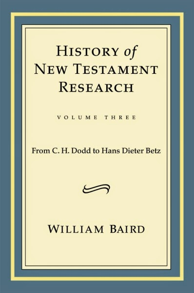 The biblioblog reference library here is a snippet for my readers who are at ets and sbl this week this comes from william bairds delightful third volume on the history of new testament fandeluxe Images