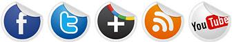 اضافة ازرار المواقع الأجتماعية بتقنية CSS3