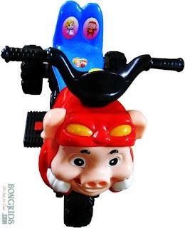 Xe máy điện trẻ em đầu con lợn
