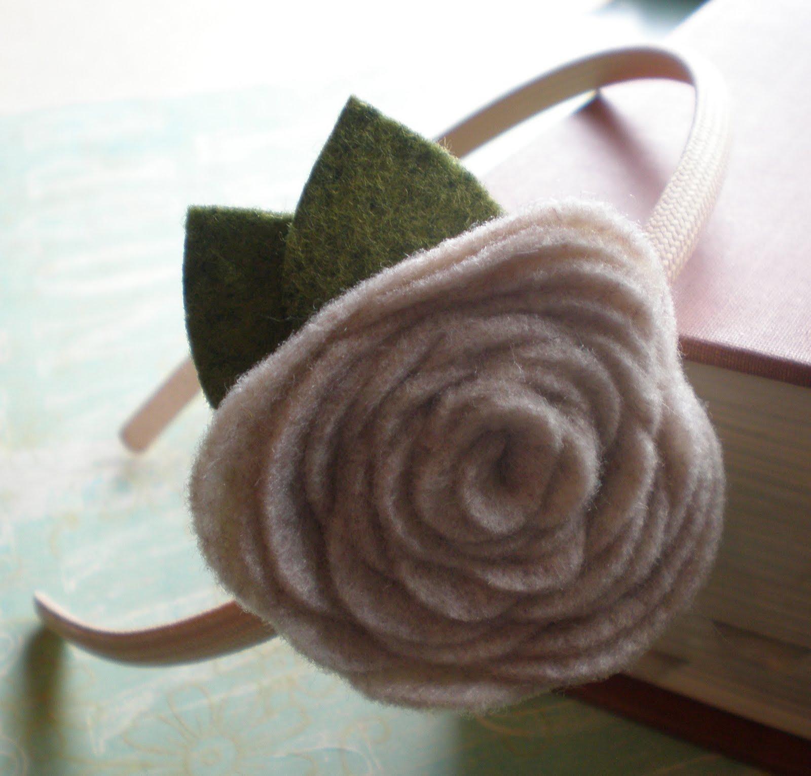 Flower Headband Tutorial: Baltimore Etsy Street Team: No Sew Felt Flower Headband
