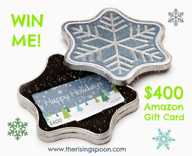 December Giveaway: Enter to #Win a $400 Amazon Gift Card | www.therisingspoon.com
