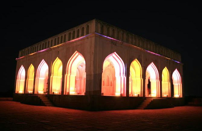 Light show at Taramati Baradari in the evenings