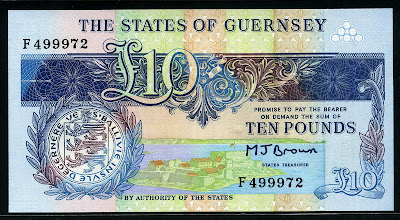 British notes Guernsey &#163;10 pounds banknote paper money currency images