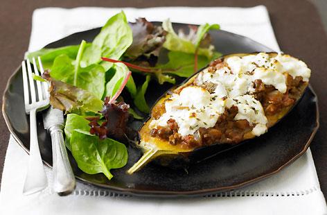 Moussaka-Stuffed Aubergines Recipe