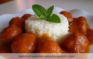 Las recetas de la mam receta de alb ndigas en salsa - Superchef cf100 ...