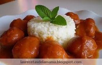 Las recetas de la mam receta de alb ndigas en salsa - Albondigas tradicionales ...