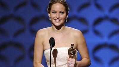 Oscar 2013 Best Actress Jennifer Lawrence for Silver Linings Playbook (2012)