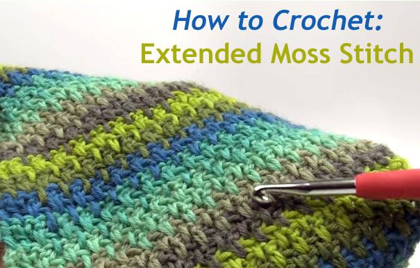 Crochet Stitches Moss Stitch : How to Crochet Extended Moss Stitch Handy & Homemade