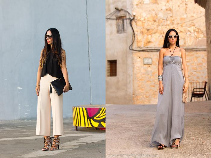 Resumen de los looks de Septiembre de la blogger Valenciana withorwithoutshoes