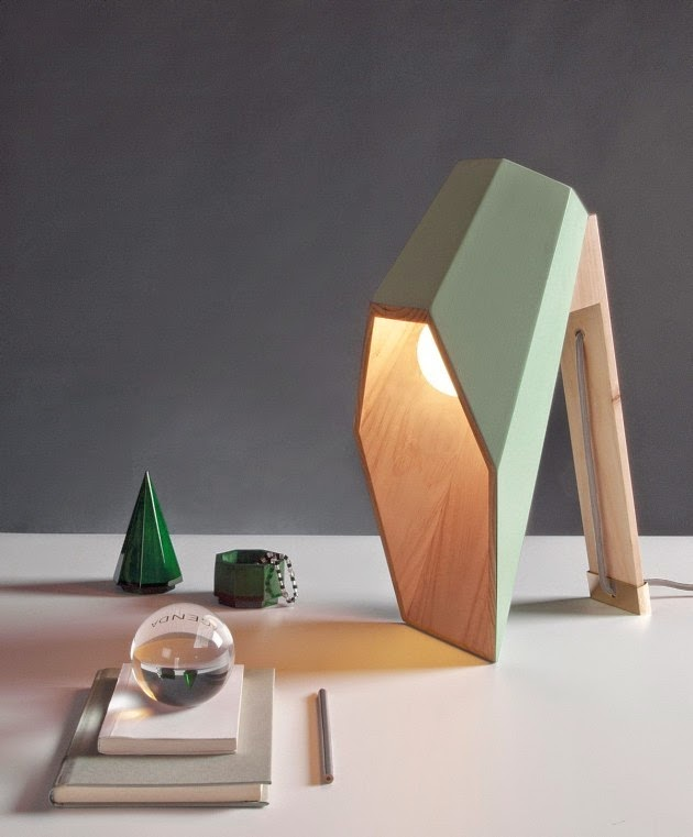 Wood table lamp furniture by Alessandro Zambelli