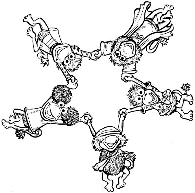 Fraggle Rock Character Coloring Pages on rock art coloring pages