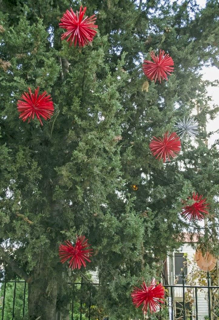 Mil artes mujer decoraci n navide a para rbol de exterior - Decoracion navidena exterior ...