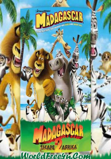 Poster Of Madagascar Duology In Hindi English Dual Audio 300MB Compressed Small Size Pc movies Free Download Only At worldfree4u.com