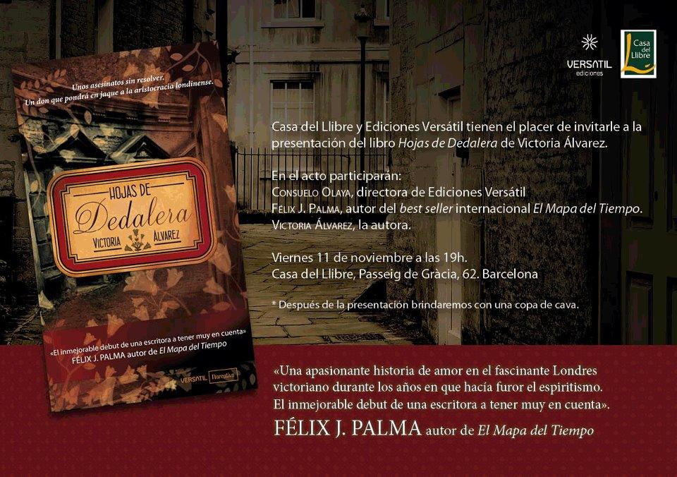 Presentaci n hojas de dedalera en barcelona el cofre de nebe - Casa del libro barcelona passeig de gracia ...