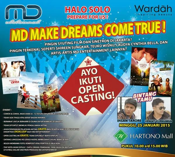 Open Casting MD Entertainment 2015
