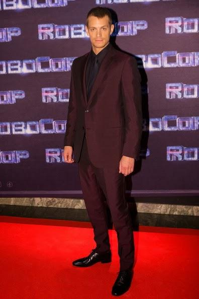 Joel Kinnaman wears Ermenegildo Zegna to the Stockholm première of Robocop