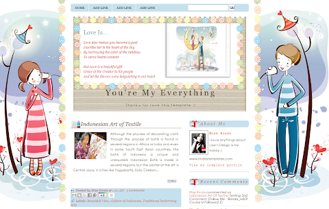 You're My Everything Blogger Theme