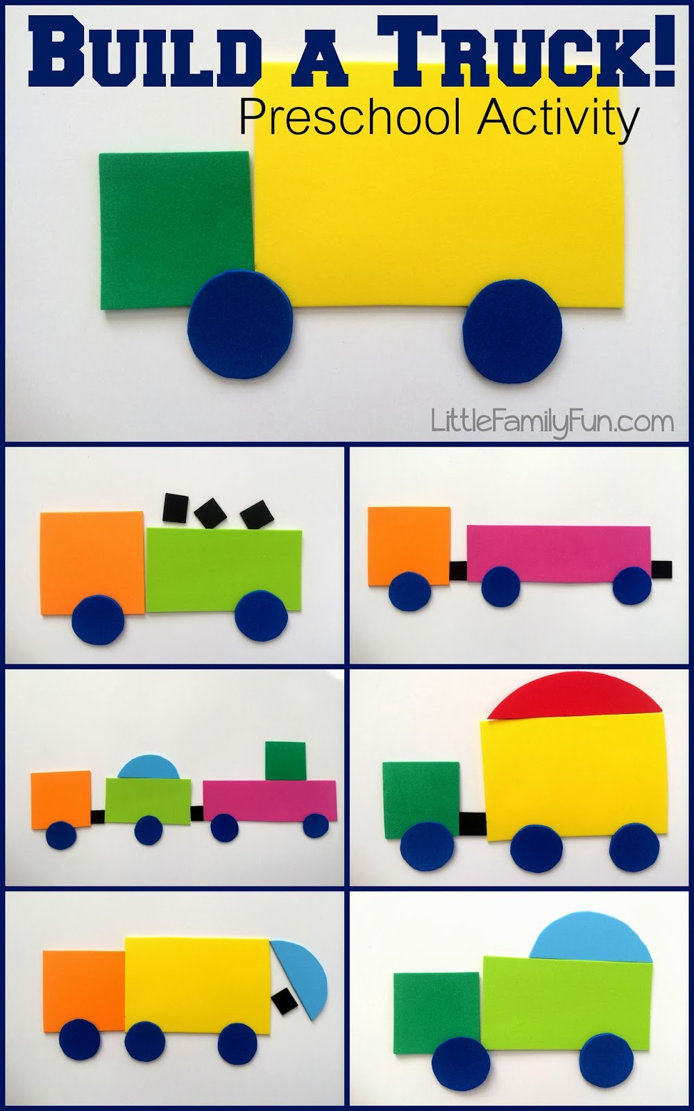 Build A Truck >> Little Family Fun Build A Truck