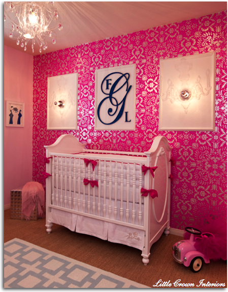 Cute Pink Baby Girl Room | Interior Design, Home Design, Living