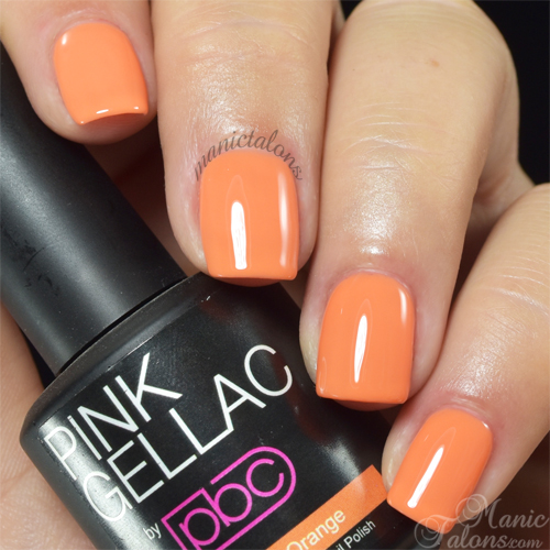 Pink Gellac Neon Orange Swatch