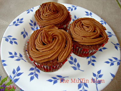 Cupcakes de crema de chocolate