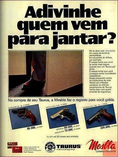 Propaganda das lojas Mesbla anos 80 , época em que o cidadão tinha direito a legítima defesa