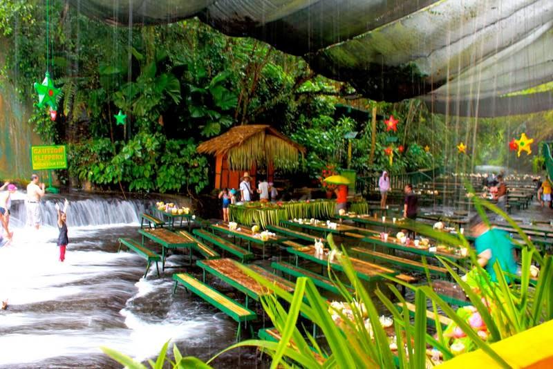 Waterfall restaurant villa escudero philippines never ever seen before