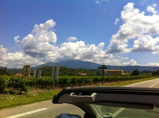 The top of Mont Ventoux obscured by clouds