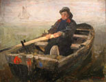 James Ensor (23 años) - The Rower (1883)