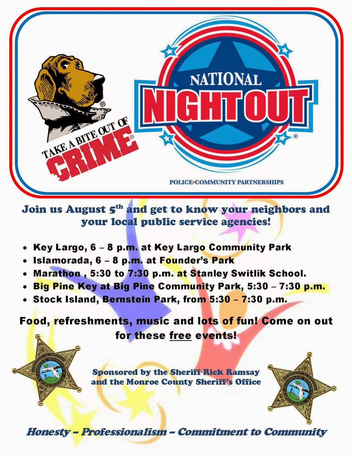 Sheriffs Office Organizes National Night Out Events August 5th