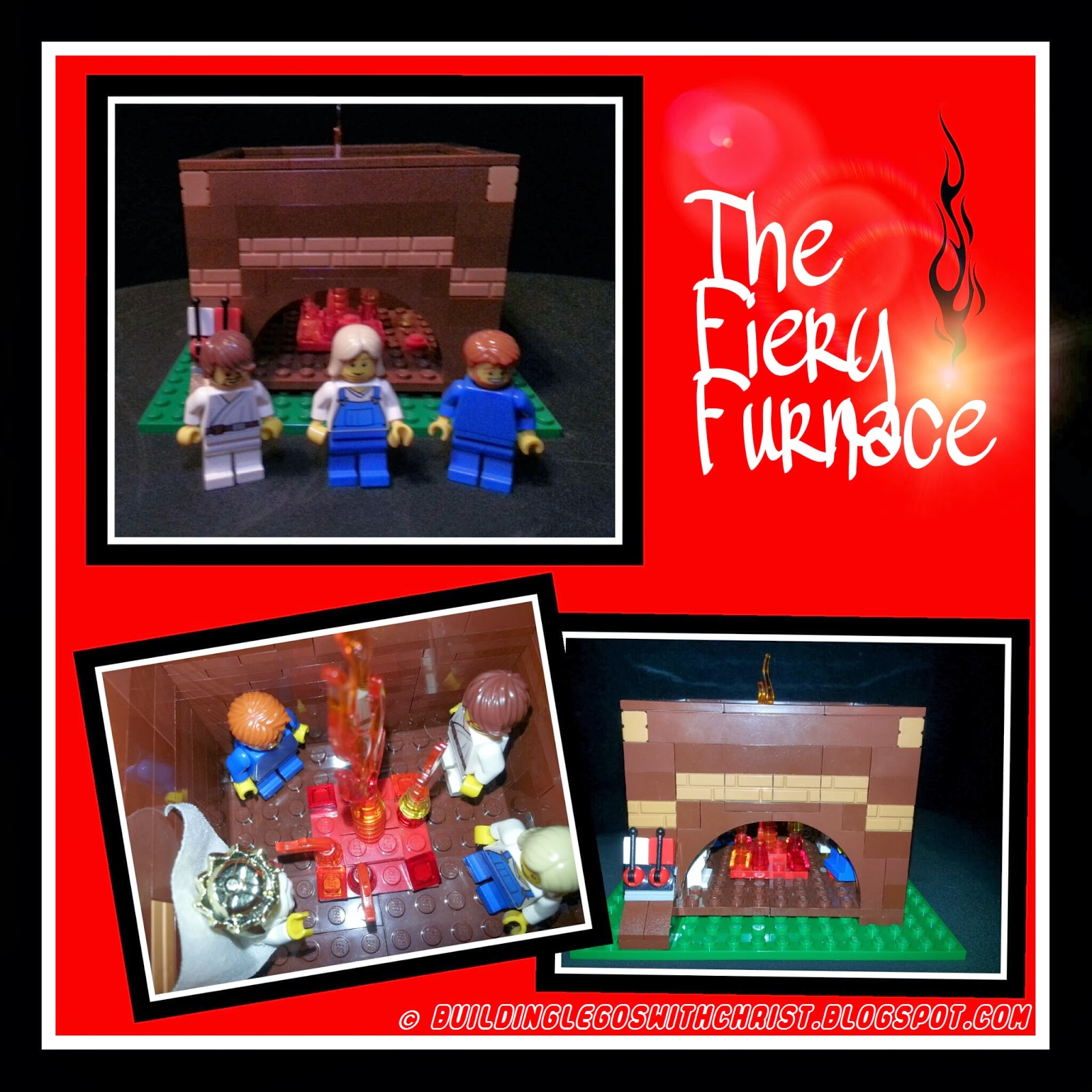 Shadrach, Meshach, Abednego, Biblical Lego Creations, Christian Lego Creations