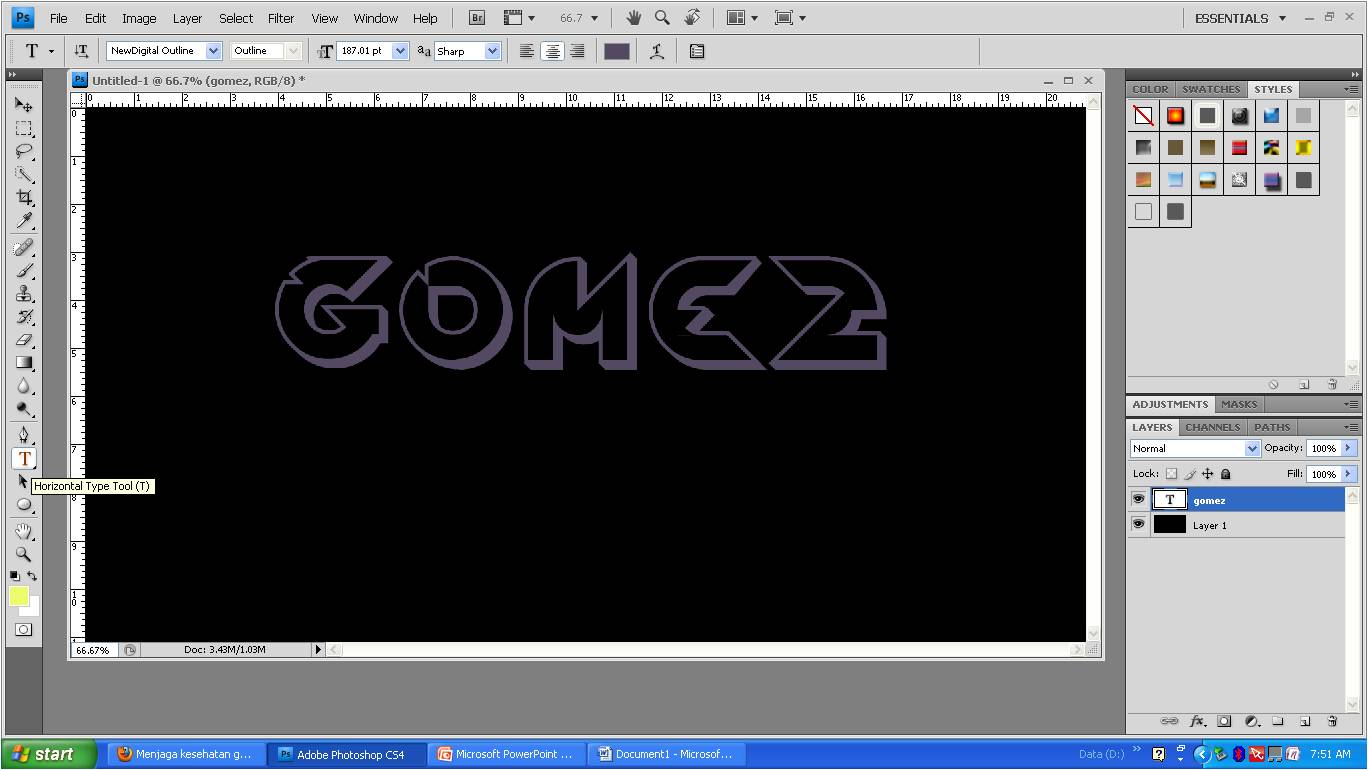 Cara Membuat Efek Tulisan Keren Di Photoshop Cs4 Fazq   Star Travel ...