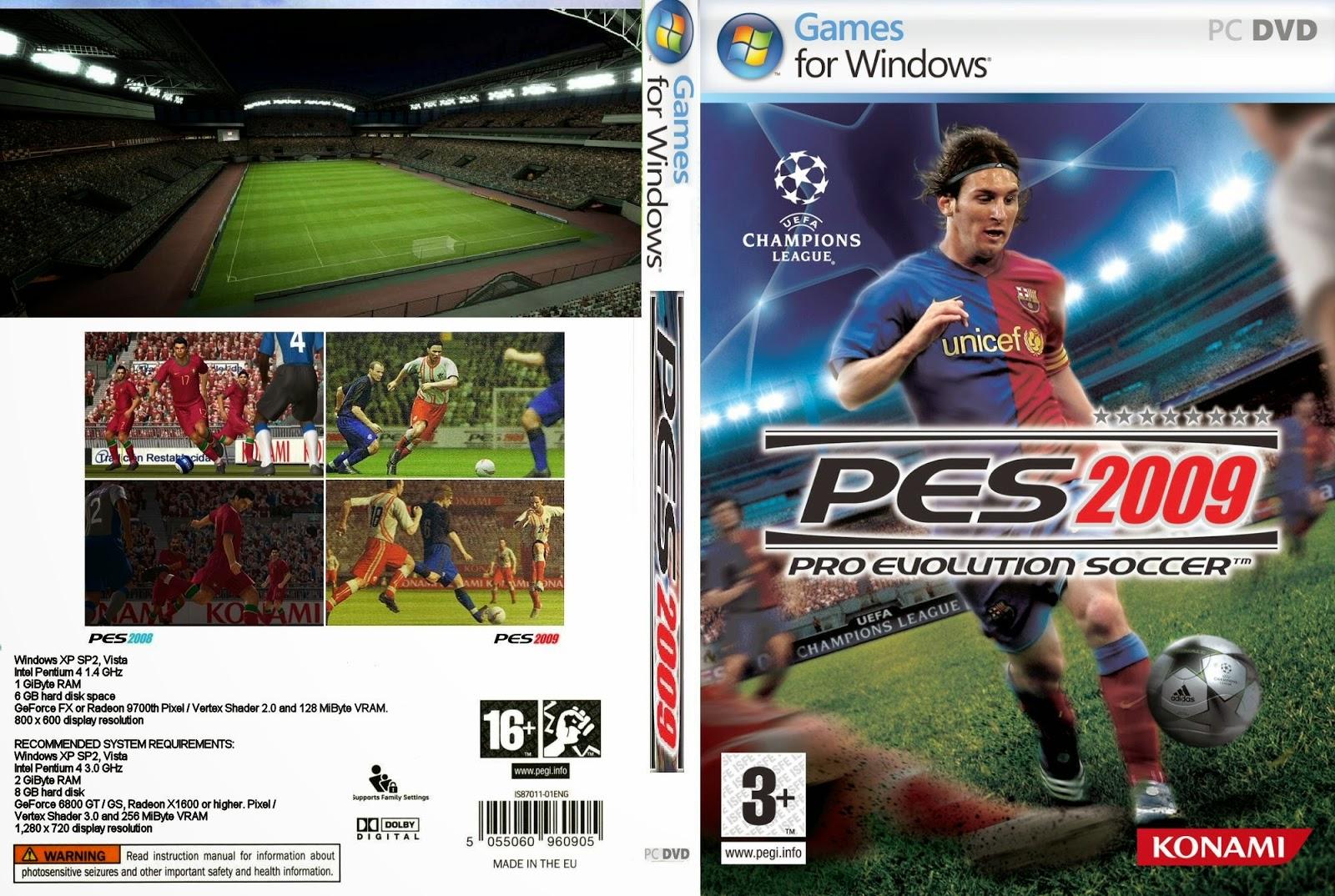 تحميل لعبة PES 2009 برابط واحد مباشر وبدون تثبيت