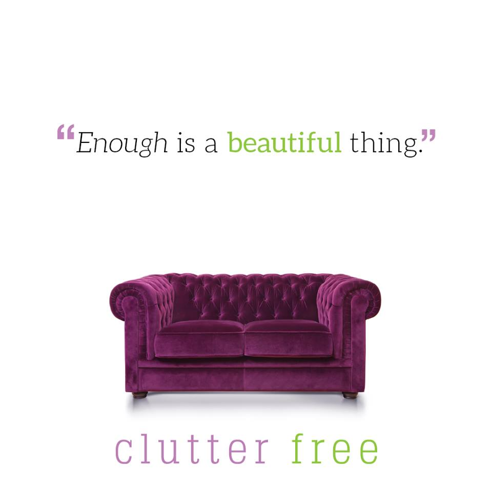 Be #clutterfree! #organization #clutter #simplify