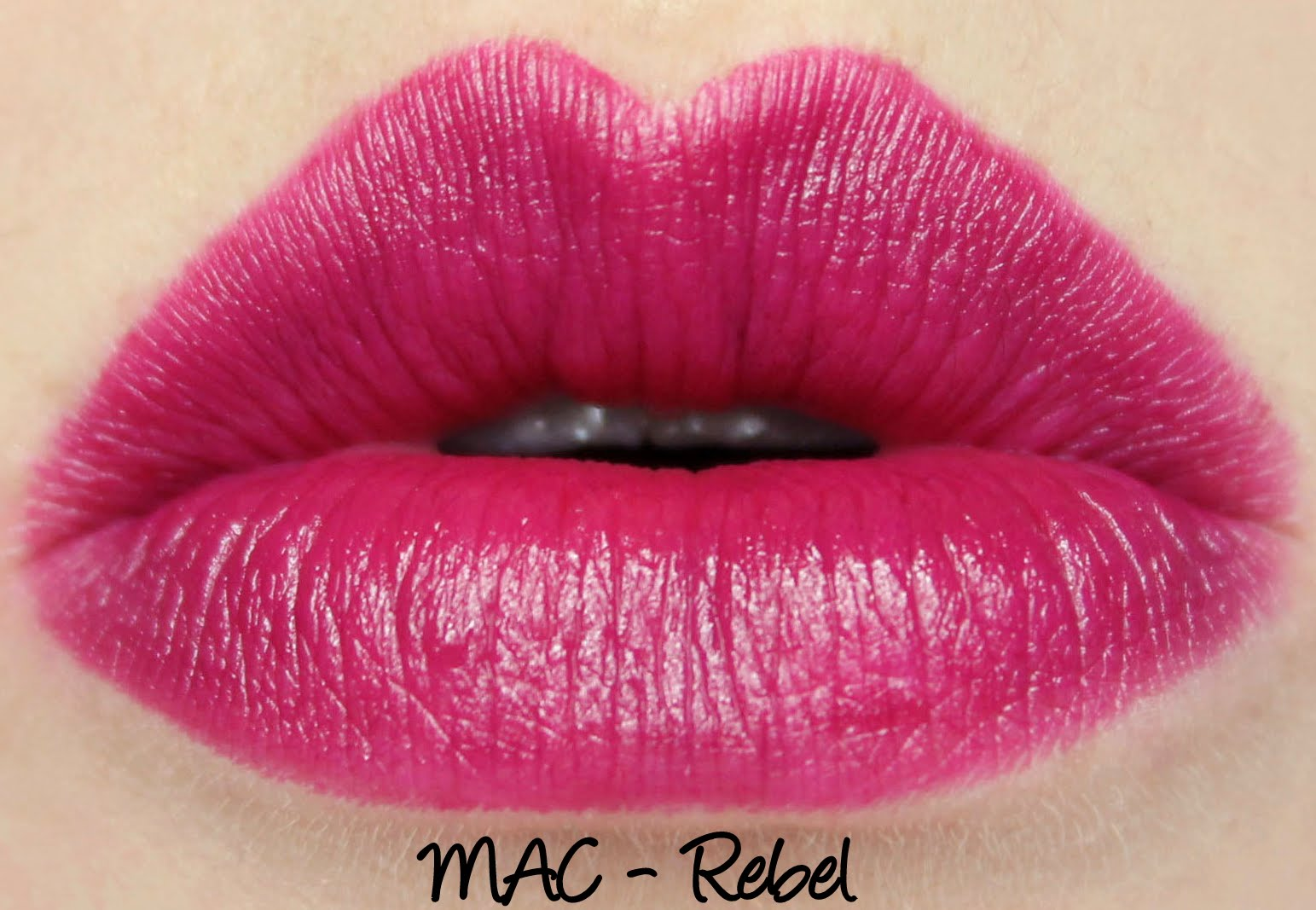 MAC Rebel lipstick swatch