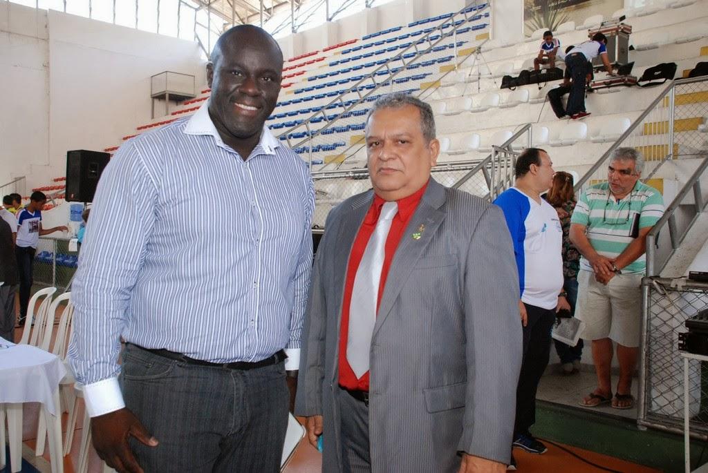 Juarez Soares, presidente da CBK no Rio de Janeiro, e Luiz Carlos Cardoso, presidente nacional da CBK