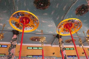 Inside Cao Đài temple