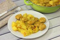 קציצות ותפוחי אדמה צהובים
