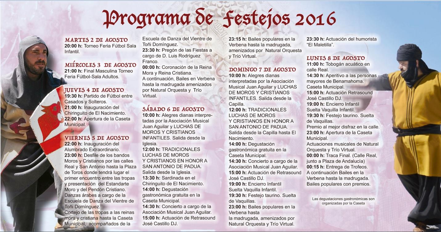 Programa Fiestas de Moros y Cristianos
