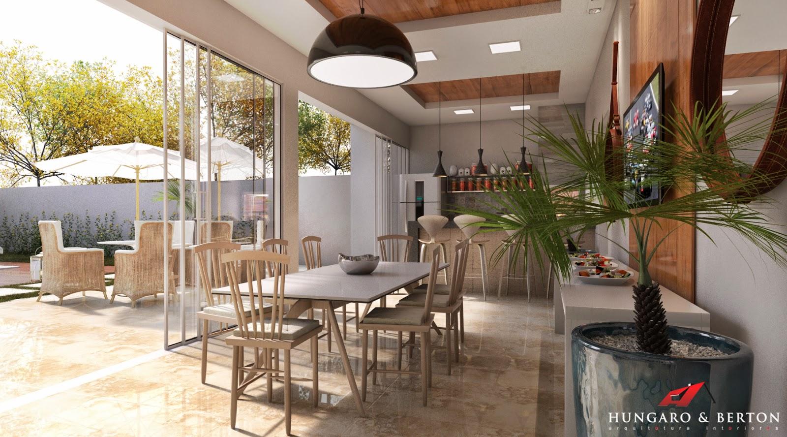 Arquitetura e Interiores: Cozinha Integrada Área de Lazer #9E902D 1600 888