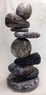 rock sculpture for PlacerArts Outside The Box exhibition