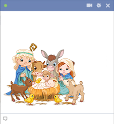 Nativity scene Facebook emoticon