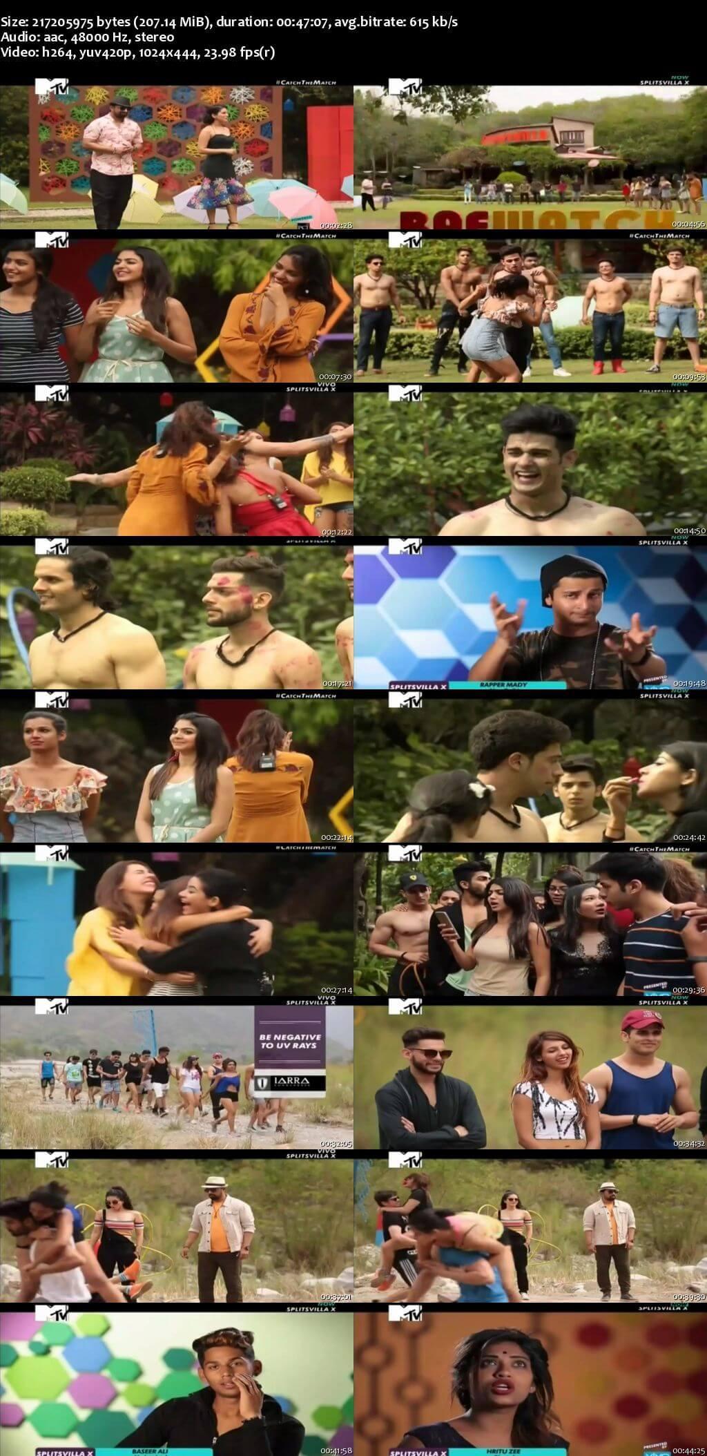 Screenshots Of Hindi Show Splitsvilla 10 6th August 2017 Episode 03 300MB 480P HD
