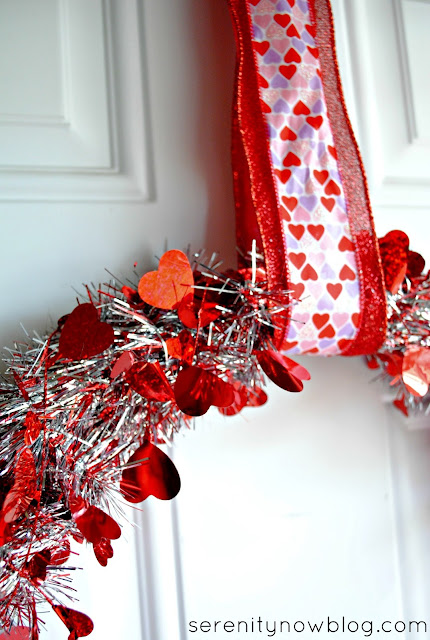 Valentine's Day Tinsel Wreath, from Serenity Now