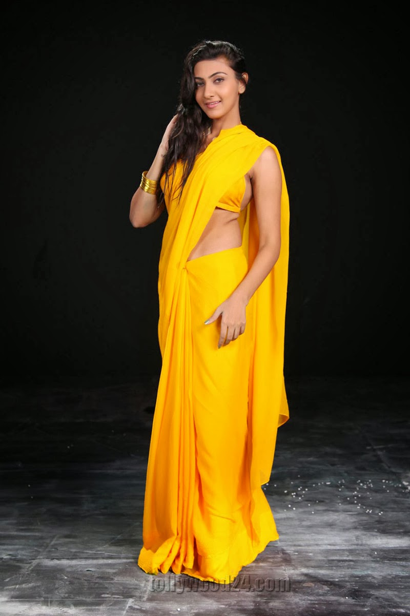 Neelam Upadhyay photos in Yellow saree from Action-HQ-Photo-15