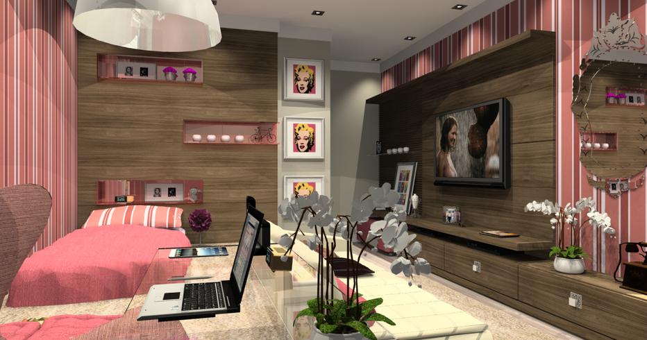 Dise o de dormitorios juveniles para chicas decoraci n for Disenos de interiores de cuartos juveniles
