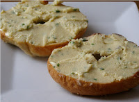Bagels with Cashew Chive Cheese Spread