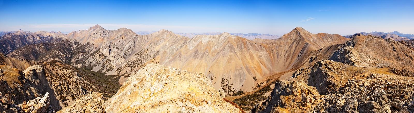 climbing Nicholson Peak, idaho