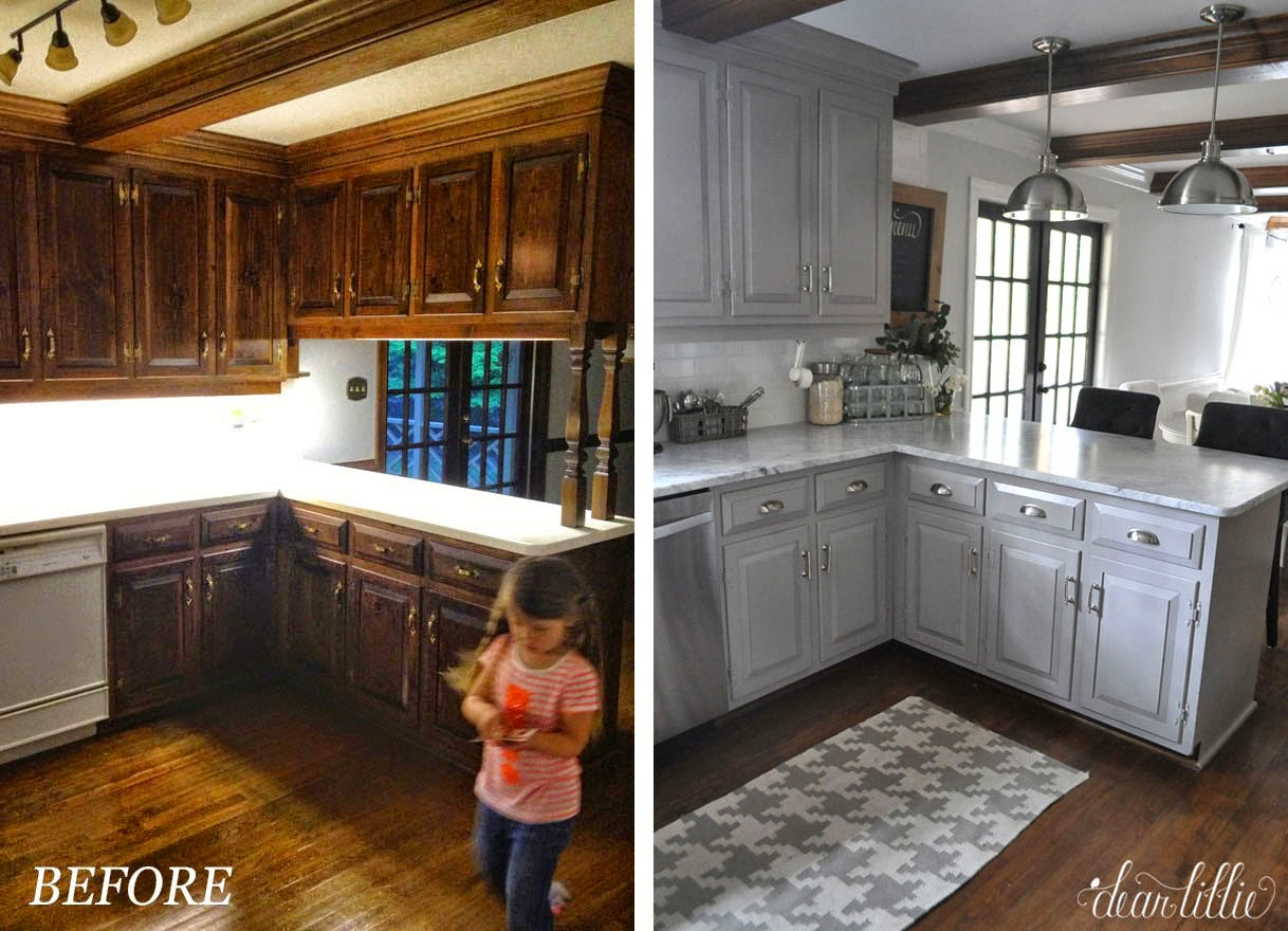 Dear lillie the finishing touches on our kitchen makeover for 70s kitchen remodel ideas